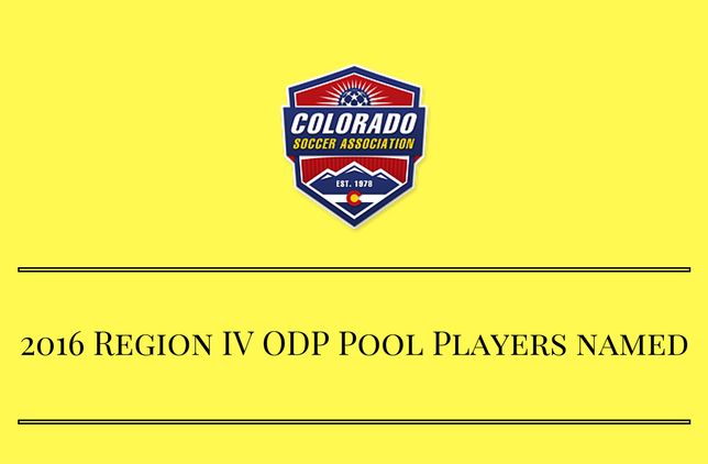 Colorado ODP Players Named to RIV Pool