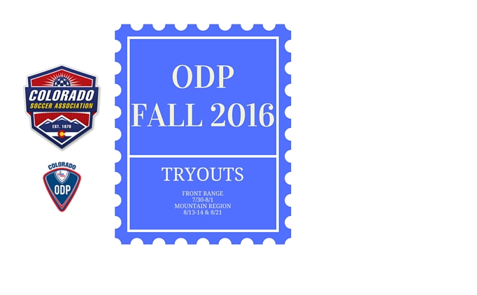 Fall 2016 ODP Tryout Dates Announced