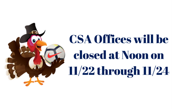 CSA Office Will Be Closed at Noon on...