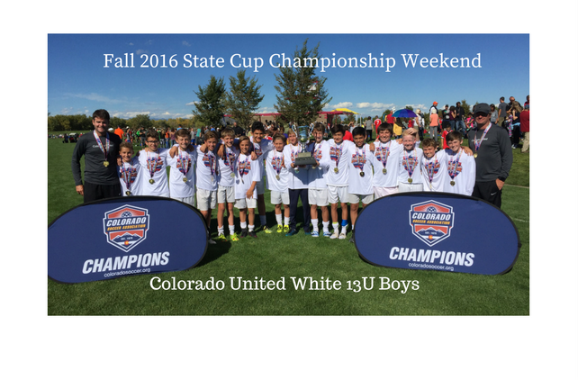 Congratulations to the Fall 2016 State Cup...