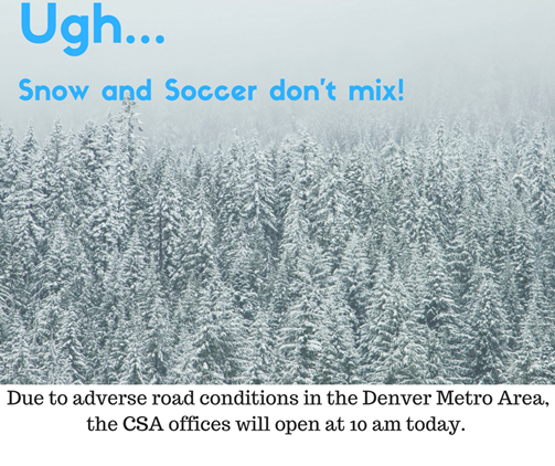 CSA offices open at 10 am today 12/7/16