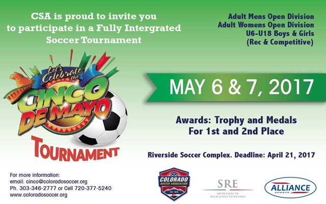 COLORADO CINCO DE MAYO SOCCER TOURNAMENT – 2017