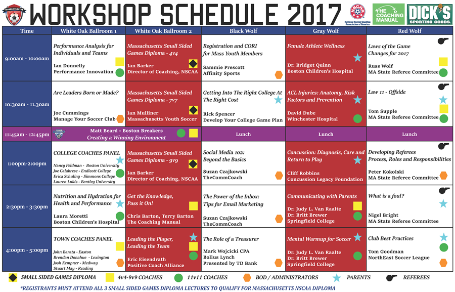Workshop Schedule Jan 20