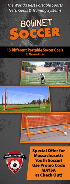 Bownet Portable Goals - Massachusetts Youth Soccer Members special discount