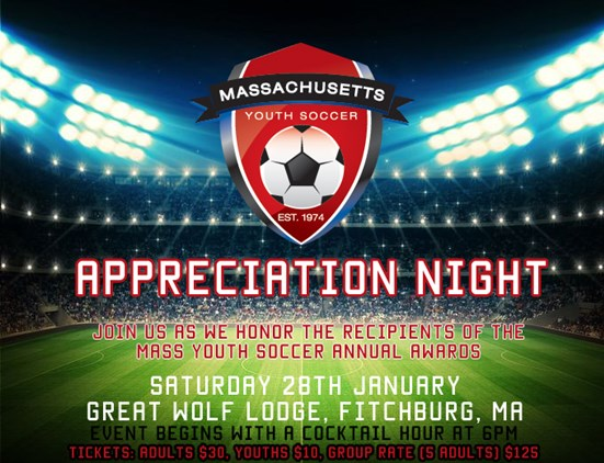 Join us at Mass Youth Soccers Appreciation Night