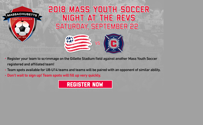 Mass Youth Soccer Night at the Revolution
