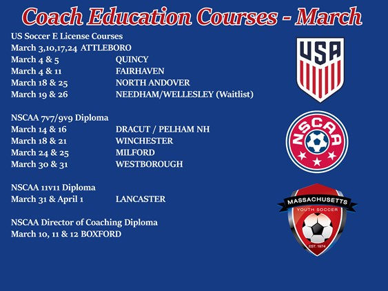 Upcoming Coach Education Courses
