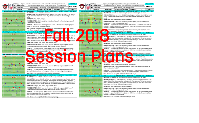 Fall 2018 Session Plans
