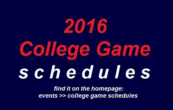 College Game Schedules