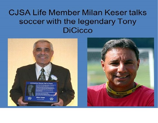 Milan Keser talks soccer with Tony DiCicco