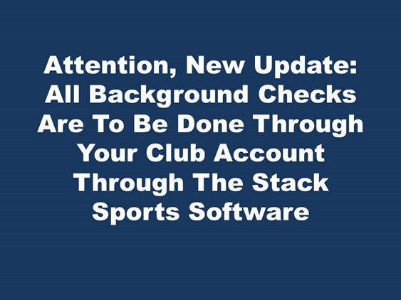 Background Checks Update