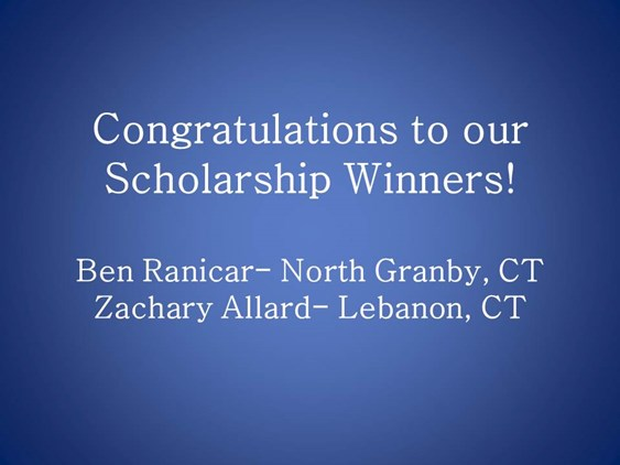 Congratulations to the Scholarship Winners