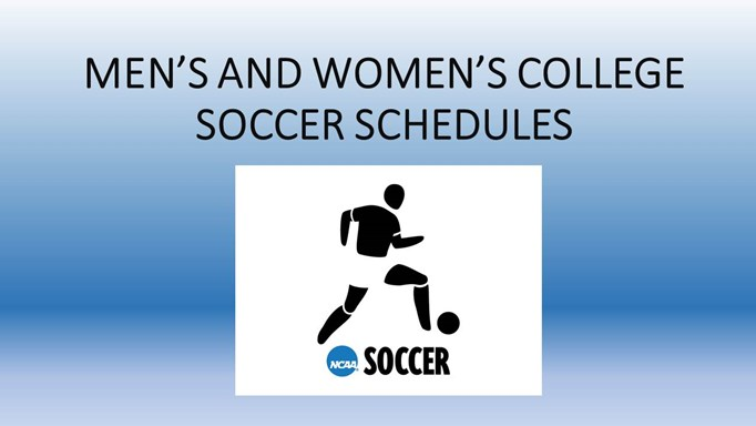 COLLEGE SOCCER SCHEDULES