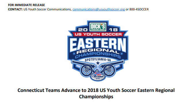 Connecticut Teams Advance to 2018 US Youth...