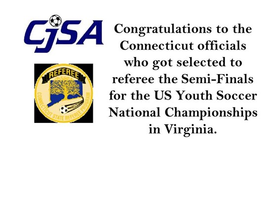 Congratulations Referees