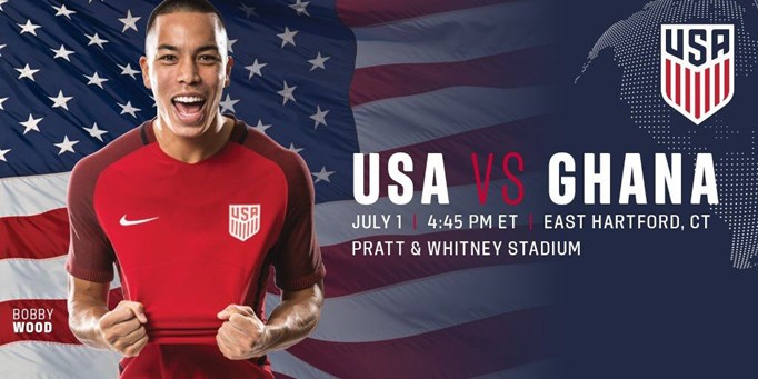 US Soccer vs. Ghana July 1st - East Hartford