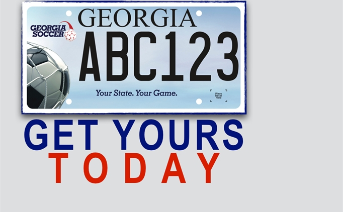 NEW Georgia Soccer License Plate