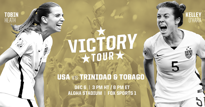 U.S. WNT Will Face T&T in Honolulu in First...
