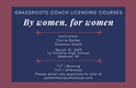 Women's Grassroots Coach Licensing Courses