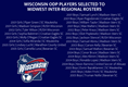 Wisconsin ODP Players Selected to 18/19 Midwest Inter-Regional Teams