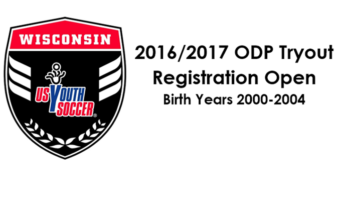2016/2017 ODP Tryout Registration Open