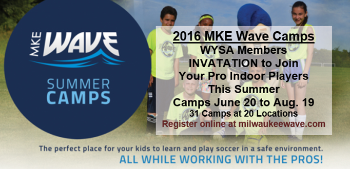 2016 Milwaukee Wave Summer Camps