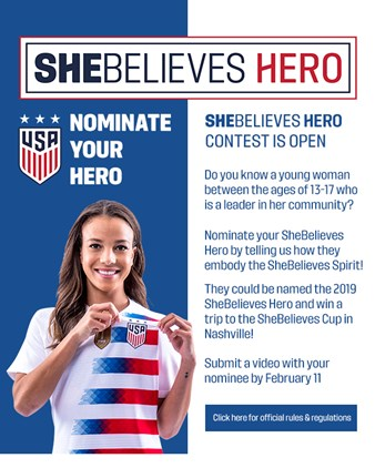 SheBelieves Hero Contest Open