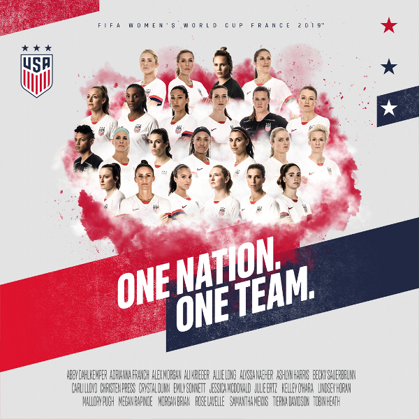 2019 WNT WWC roster poster