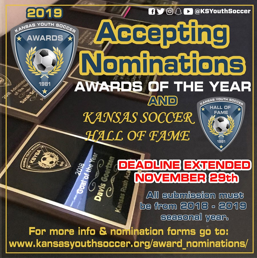 2019 Award Nominations Deadline Extended