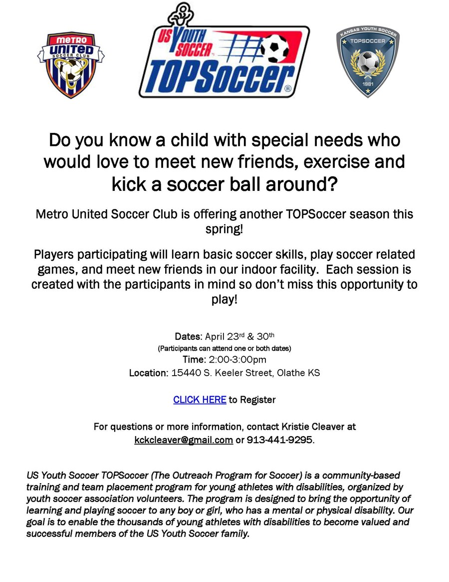 TOPSoccer Spring Flyer 2017