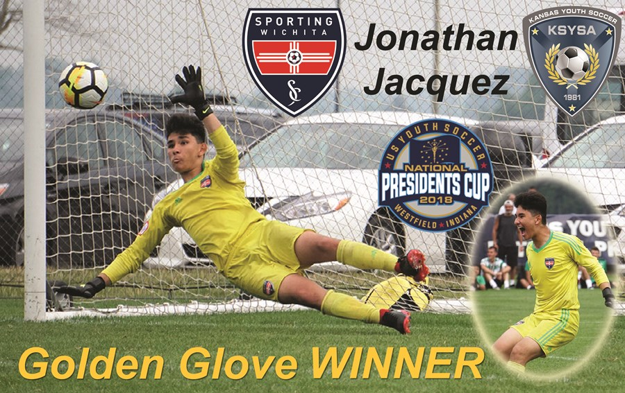 U15 Sporting Wichita National Presidents Cup Golden Glove Winner