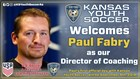 Kansas Youth Soccer Welcomes Paul Fabry as the New Director of Coaching