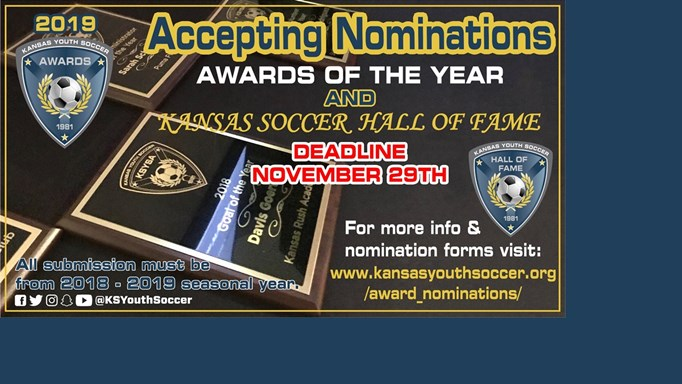 Nominations for KSYSA Awards & Hall of Fame