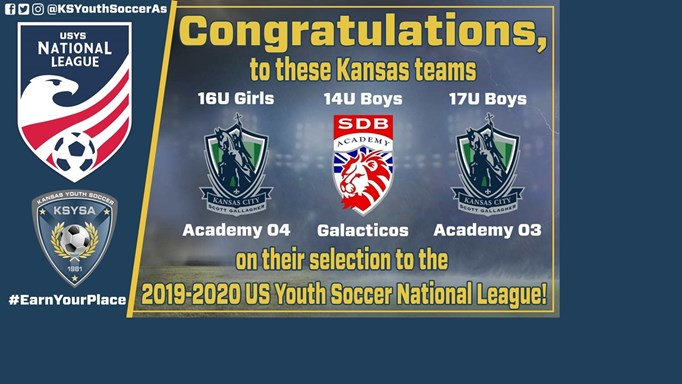 Kansas Teams Selected for USYS National League!