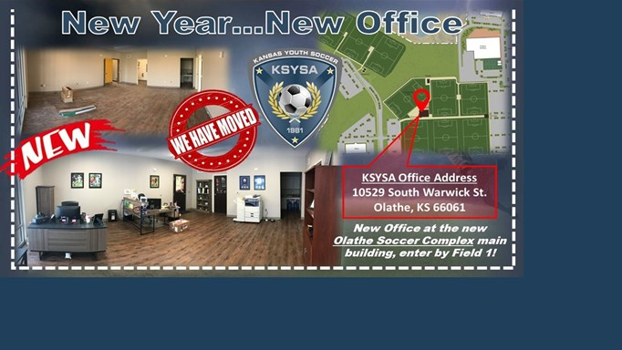 Kansas Youth Soccer Moves to New Office at OSC!