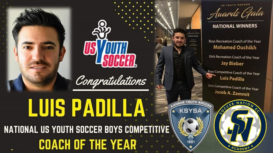 Luis Padilla Wins National Boys Comp. Coach of Year