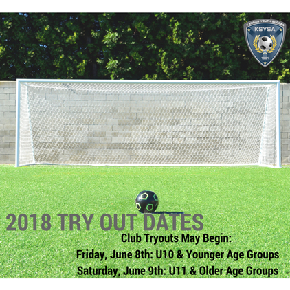 2018 Club Tryout Dates