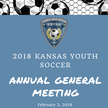 Kansas Youth Soccer AGM will be February...