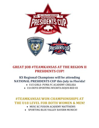 2017 Region II Presidents Cup Results