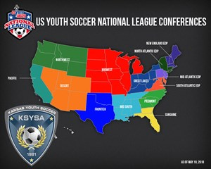USYS National League Conferences with KSYSA logo
