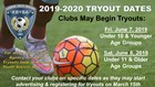 2019-2020 Under 10 & Younger Tryouts Begin
