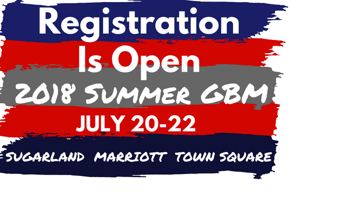 2018 Summer GBM Registration