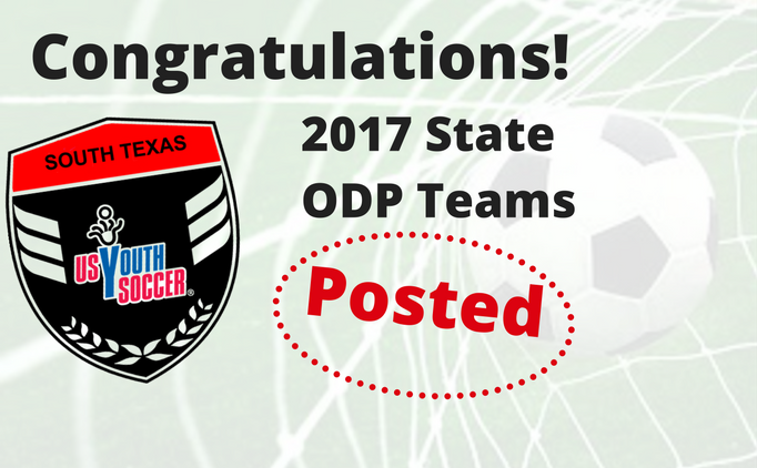 2017 STX ODP State Teams