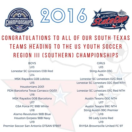 2016 US Youth Soccer Southern Regional...