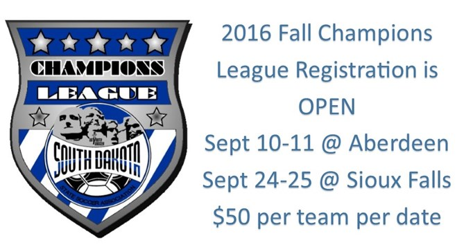 Fall Champions League Registration Open