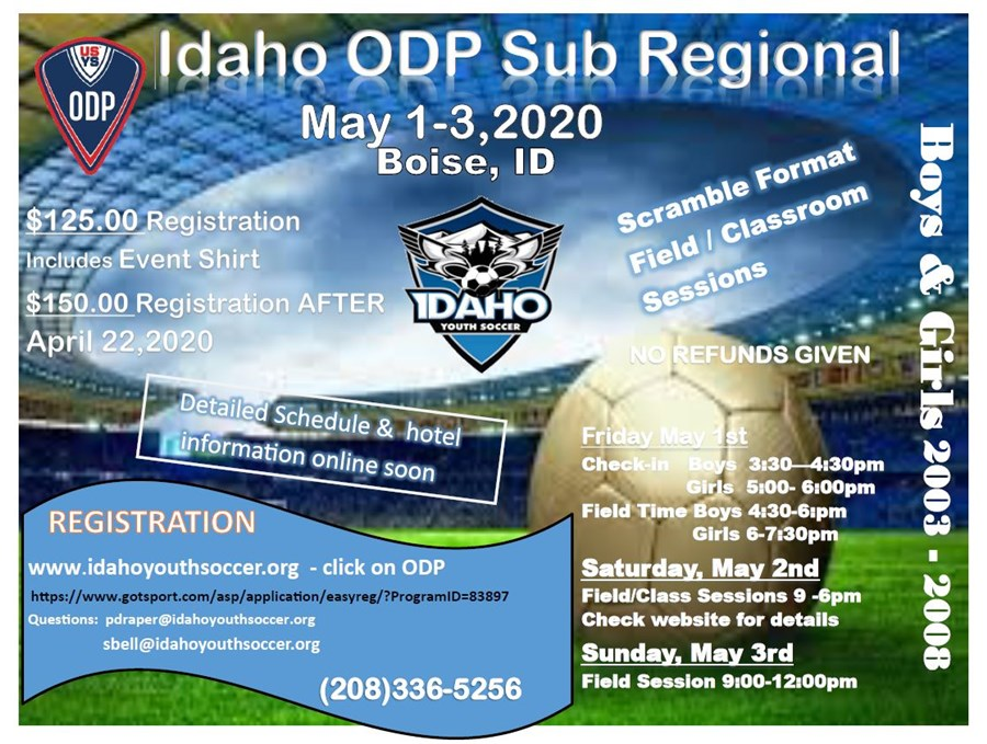 ODP Sub Regional - new dates