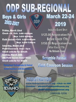 ODP Sub Regional Registration