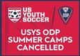 USYS ODP CAMP CANCELLATION AND INTER-REGIONAL ANNOUNCEMENT