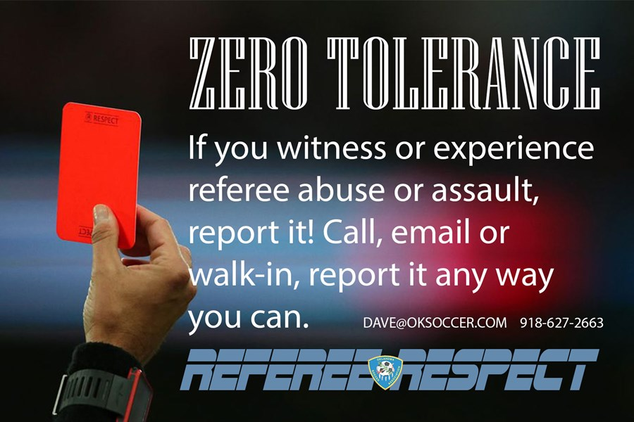 Referee Respect NO TOLERANCE