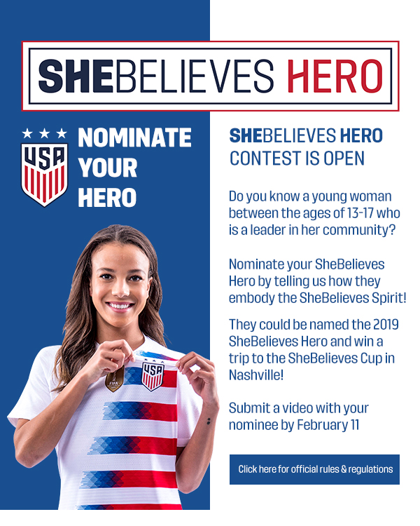 SheBelieves Hero Announcement